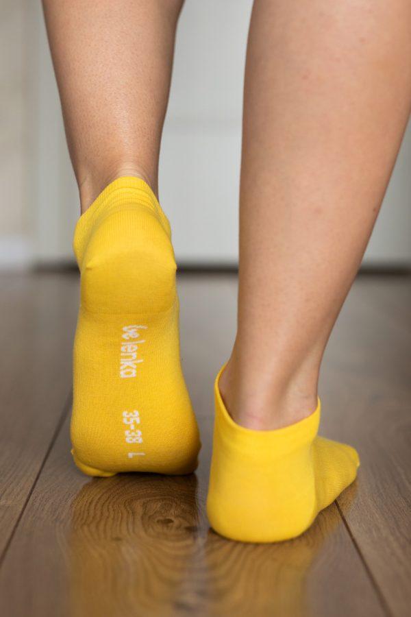 Be Lenka Sneakersocken Gelb Hinten