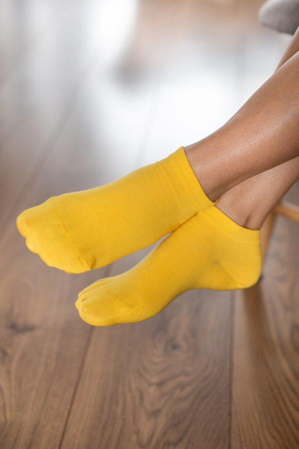 Be Lenka Sneakersocken Gelb Seitlich
