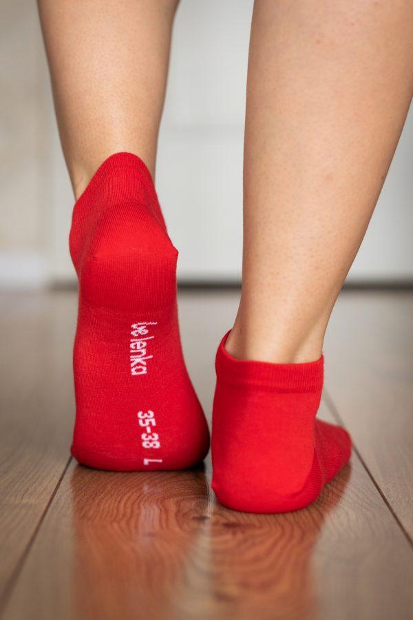 Be Lenka Sneakersocken Rot Hinten