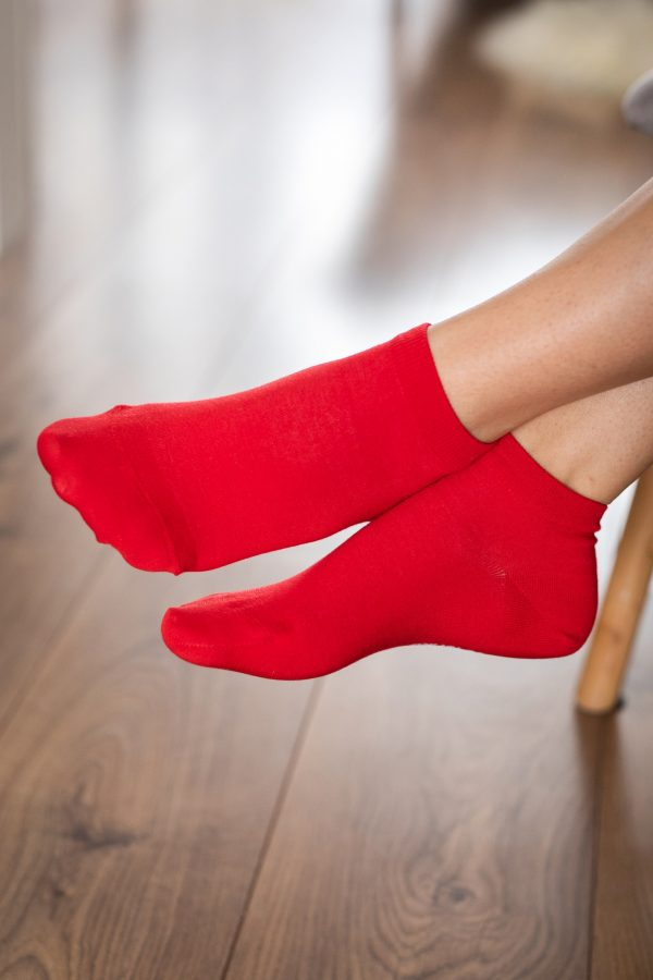 Be Lenka Sneakersocken Rot Seitlich