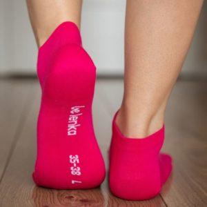 Be Lenka Sneakersocken Pink Hinten