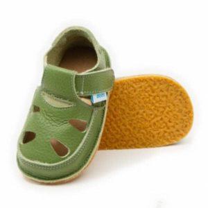 Dodoshoes Sandale Grün Vorne