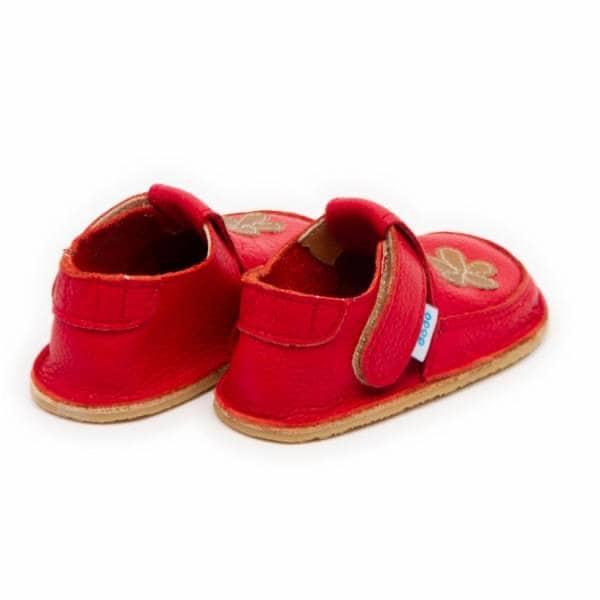 Dodoshoes Schuhe Rot Mit Blume Hinten