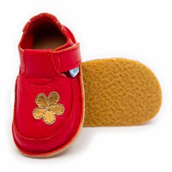 Dodoshoes Schuhe Rot Mit Blume Vorne