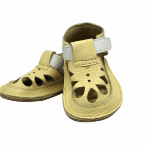 Baby Bare Shoes Summer Perforation Canary Vorne