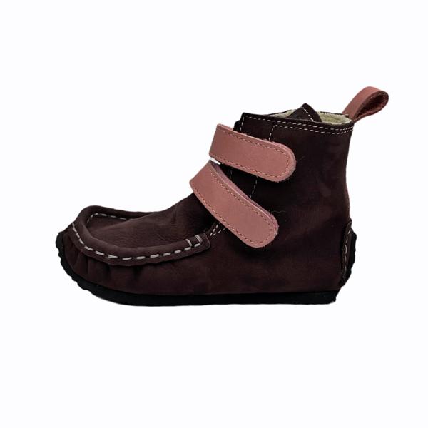 Tildaleins-Shop-zeazoo-winterbarfussschuhe-yeti-brown-pink-seite