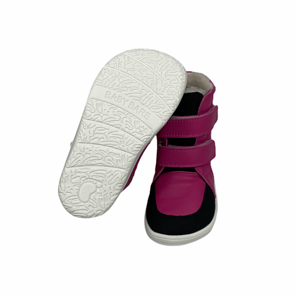 Tildaleins-Shop-baby-bare-shoes-winterbarfussschuhe-febo-winter-fuchsia-sohle