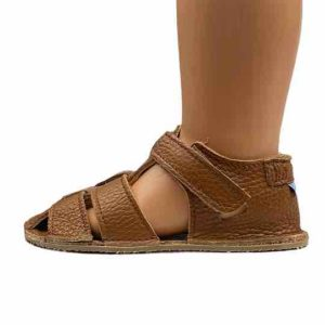 Baby Bare Shoes Barfußsandalen All Brown Seite