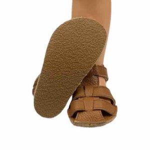 Baby Bare Shoes Barfußsandalen All Brown Sohle