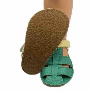 Baby Bare Shoes Barfußsandalen Emerald Sohle