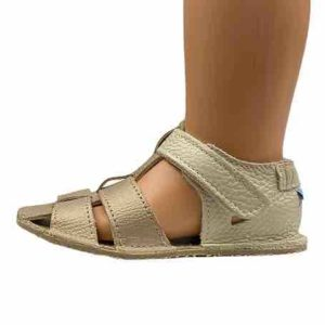Baby Bare Shoes Barfußsandalen Gold Seite