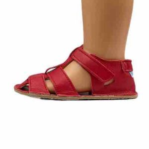 Baby Bare Shoes Barfusssandalen Rot Seite
