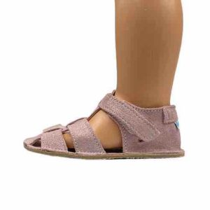 Baby Bare Shoes Barfußsandalen Sparkle Pink Seite