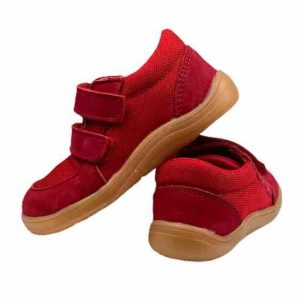 Baby Bare Shoes Barfusssneaker Rot Hinten
