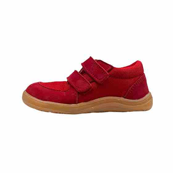 Baby Bare Shoes Barfusssneaker Rot Seite