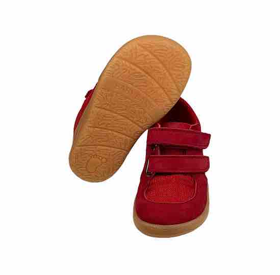 Baby Bare Shoes Barfusssneaker Rot Sohle