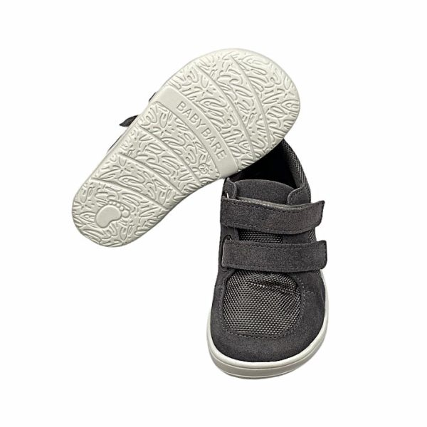 Baby Bare Shoes Barfußschuhe Sneakers Grey Sohle