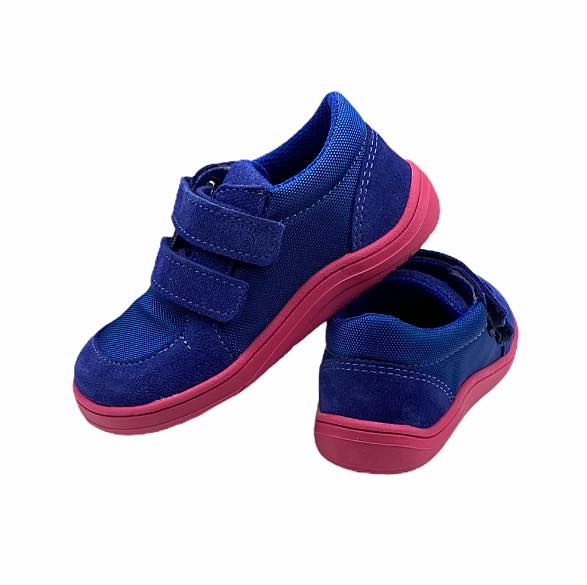 Baby Bare Shoes Barfußschuhe Sneakers Navy Pink Hinten