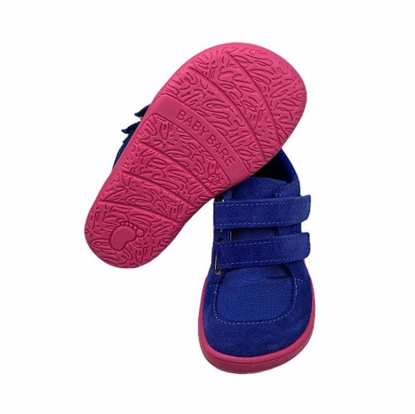 Baby Bare Shoes Barfußschuhe Sneakers Navy Pink Sohle