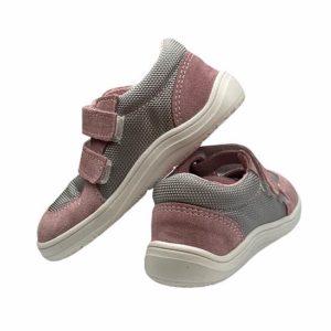 Baby Bare Shoes Barfußsneakers Grau Rosa Hinten