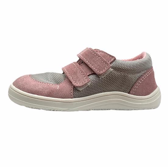 Baby Bare Shoes Barfußsneakers Grau Rosa Seite