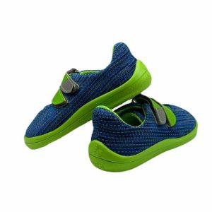 Beda Barfußschuhe Sneakers Mesh Blue Lime Hinten