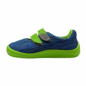 Beda Barfußschuhe Sneakers Mesh Blue Lime Seite