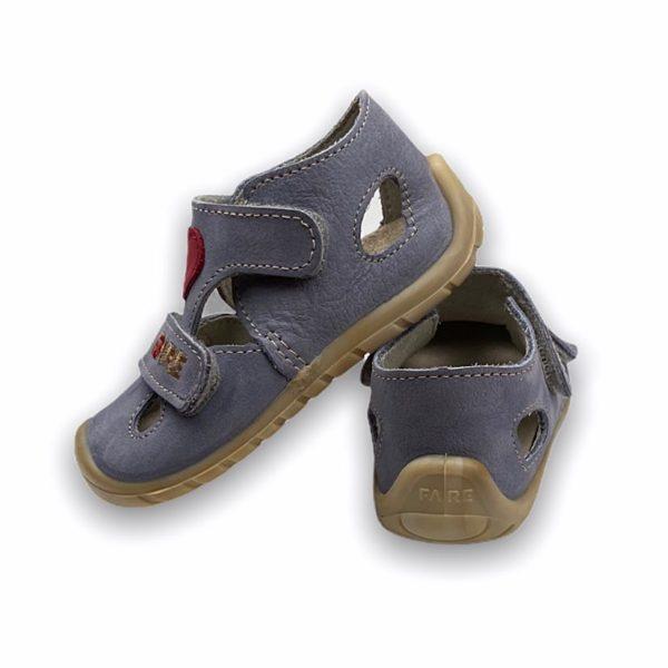 Fare Bare Erste Sandalen Barfußschuhe Mit Herz Hinten