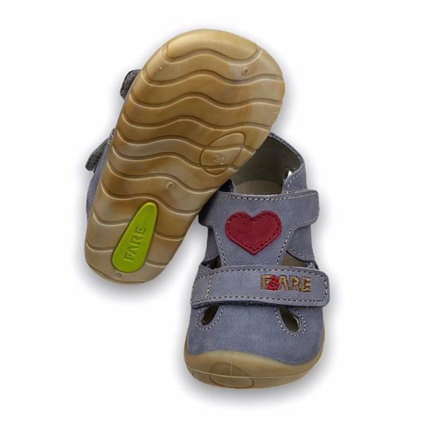 Fare Bare Erste Sandalen Barfußschuhe Mit Herz Sohle