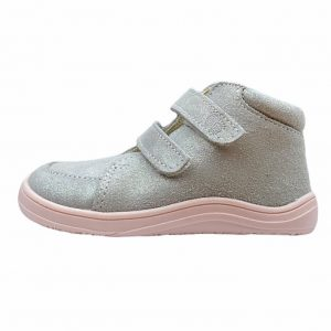Baby Bare Shoes Barfußschuhe Febo Fall Grau Pink Seite