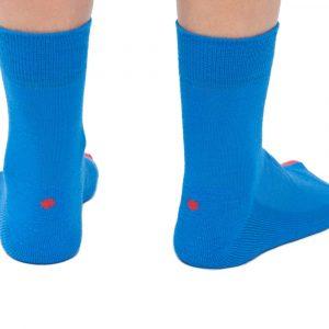 Plus12socks Barfußsocken Functional Cotton Blau Hinten