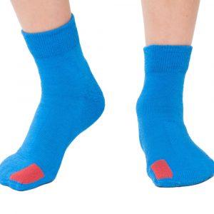 Plus12socks Barfußsocken Functional Cotton Für Kinder Blau Vorne