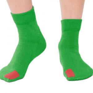 Plus12socks Barfußsocken Functional Cotton Für Kinder Grün Vorne