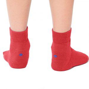 Plus12socks Barfußsocken Functional Cotton Für Kinder Rot Hinten