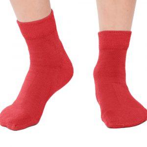 Plus12socks Barfußsocken Functional Cotton Für Kinder Rot Vorne