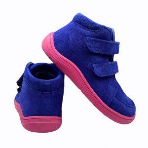 Baby Bare Shoes Barfußschuhe Febo Fall Navy Pink Hinten